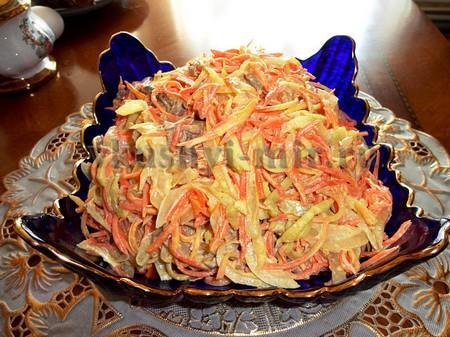 Салат обжорка с курицей фото